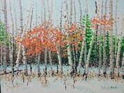Jim Pescott, Trees By A Winter Road